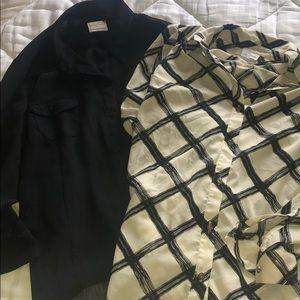 White & Black Bundle - 2 Button Down Blouses